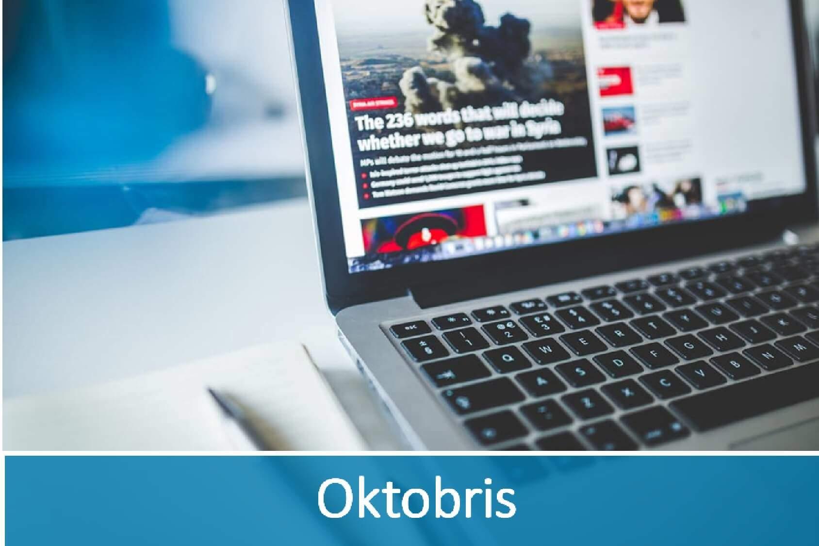 Jaunākās aktualitātes IT nozarē- oktobris
