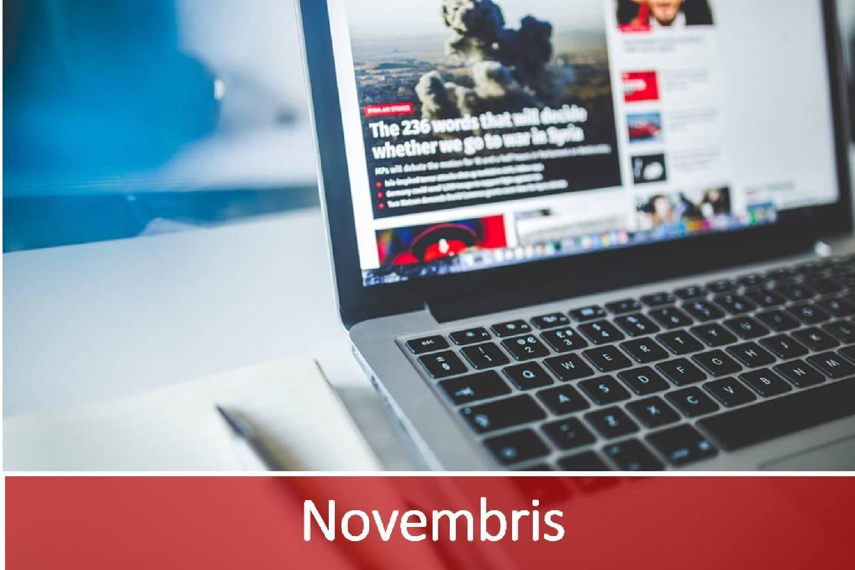 Jaunākās aktualitātes IT nozarē- novembris